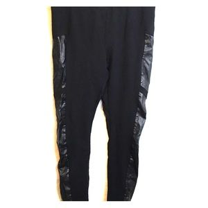 Philosophy black pull on knit pants